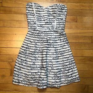 Parker Strapless Animal Print Silk Bandage Dress